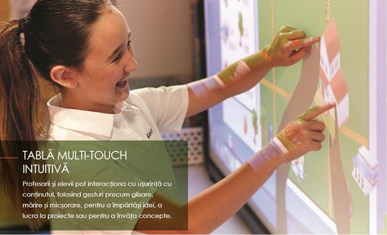Tabla multi-touch intuitiva